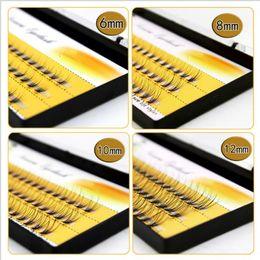 Wholesale Eyelash Flares - Natural C Curl 0.12mm 6-14mm Black Individual False Eyelashes Silk Eyelash Extension Design thick 10 Flares