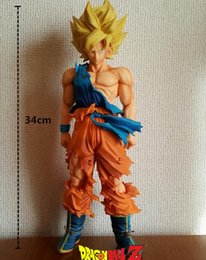 Wholesale Goku 36cm - Dragon Ball Z Super Master Stars Piece The Son Goku Super Big 36cm PVC Action Figure Collectible Model Toy KT3096