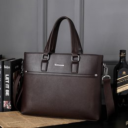 Wholesale Car Ribbon Print - Men's fashion handbag business casual men's solid car suture messenger bag computer bag