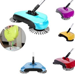 Wholesale Wholesale Electric Floor - Automatic Hand Push Sweeper Magic Spinning Broom Cleaning No Electric Household Sweeper Dustpan Set Floor Home Cleaning 3 in1 KKA1675