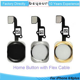 Wholesale Home Button Cable - High Quality For iPhone 6 6 plus Complete Home Button Flex Ribbon Cable Touch ID Sensor Replacement Part Repair Panel
