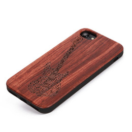Wholesale Iphone Laser Engraving - U&I ® Exquisite Rosewood cell phone case Precise Hole laser engraved pattern cover case for iphone 5 6 6plus 7 7plus