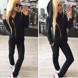 Wholesale Ladies Jogger Suits - Women's Sport Suits 2017 Brand New Tracksuit For Women Sweatshirt And Joggers Sets Plus Size Autumn Winter Coat Hoodie New Ladies Sports