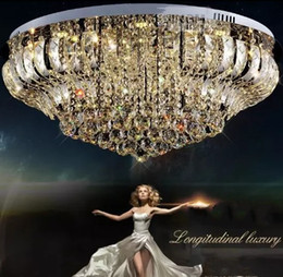 Wholesale drop ceiling led lighting - Free shipping Modern Rain Drop Pendant crystal Ceiling Lamp luster living room crystal lights LLFA