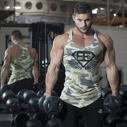 Wholesale Modal Clothing Wholesale - Wholesale- 2017 summer new Men gyms Fitness Bodybuilding Tank Top Camouflage Vest clothing sleeveless shirts Muscle male fashion Brand Slin