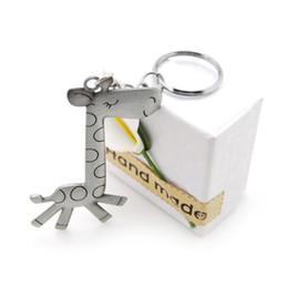 Giraffenschlüsselring online-Original New Fashion Niedlichen Tier giraffe Schlüsselanhänger Punk Alloy Schlüsselanhänger Schädel Keychain Männer Schmuck Frauen Geschenk