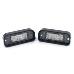 Wholesale Mercedes Plates - Eonstime 2PCS No Error LED LICENSE PLATE LIGHT SUPER WHITE 18SMD for MERCEDES BENZ W220 S320 S420 S430