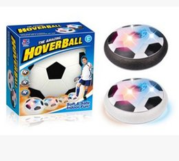 Wholesale Suspension Air - LED Air Power Soccer Ball 1 Pieces Sport Multi-surface Hovering Indoor Gliding Bright light Suspension Football Toy for Kids (Plastic)