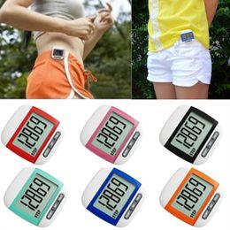 Wholesale Pocket Calorie Counter - Waterproof Multifunction LCD Pedometer LCD Run Step Pedometer Walking Distance Calorie Counter Multi-function Pocket Pedometer Step Counter