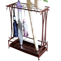 Wholesale Quality Rain Gear - High Quality Umbrella Stand Umbrella Rack Home Hallway Hotel Hall Rain Umbrellas Iron Stand Holder Rain Gear Home Supplies JL0102