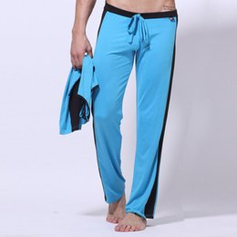 Wholesale Satin Silk Panties - Wholesale- Pants men long casual Trousers for men novelty fashion milk silk panties brand top Slim Satin full length joggers sweatpants