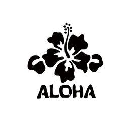 Wholesale flowers hibiscus - 2017 Hot Sale Car Stying Decal Hawaii Hibiscus Flower Beach Surfing Vacation Car Window Vinyl Decals Jdm