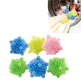 Wholesale Magic Balls Cleaning - 6pcs Colored Detergent Winding Preventing Cleaning Cleaner Magic Laundry Washing Ball Wash Laundry Ball Sale Hot Sal
