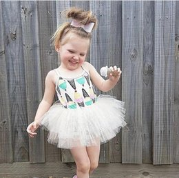 Wholesale Cream Tutu - New Collecting Kids Girl Summer Ice Cream Vest Dress 0-4 Years Kids Tutu Dress Size 70-110cm 5Pcs Lot