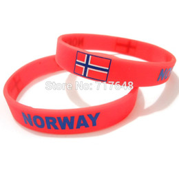 Wholesale Fedex Wrist Band - Wholesale- 100pcs a lot NORWAY wristband silicone bracelets rubber cuff wrist band bangle free shipping by FEDEX express