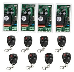 Wholesale v modes - Wholesale- 220 v 1 ch RF wireless remote control switch 4* receiver+8 * transmitter Simple connection self-lock mode