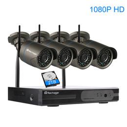 2019 cctv sistemas dome exterior 4ch 1080 p plug and play sem fio kit de vigilância nvr p2p 2mp fULL hd interior de segurança ao ar livre ip câmera wi-fi sistema de cftv