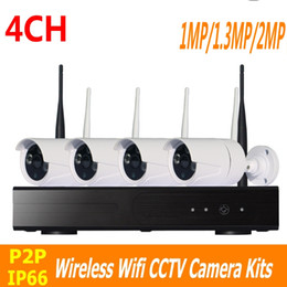 Wholesale Indoor Outdoor Surveillance System - CCTV System 1 1.3 2MP 4CH Wireless NVR kit IR Night Vision IP Camera wifi Camera kit Home Security System Surveillance ann