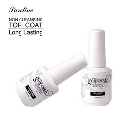 primer coating Promo Codes - Wholesale-Saroline Base Coat Top Coat Gel UV Nails 15ml Gelpolish Nail Soak Off Gel Lacquer Varnishes UV Gel Nail Primer in Nail Art