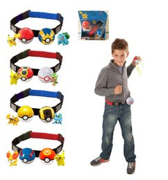 Wholesale N Figures - poke Elf Ball Clip N carry poke ball belt adjustable belts poke figure cartoon 2017 new year Christmas gifts with retail box
