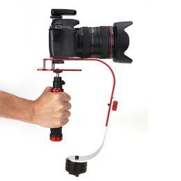 handheld dslr kamerastabilisator Rabatt Steadycam Handheld-Video-Stabilisator Digital-Kompaktkamera Halter für Canon Nikon Sony Gopro Hero6 schwarz Held 5 4 3 Telefon DSLR DV