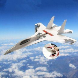 Wholesale Fighter Jet Models - Train Oyuncak Hot Sale Su 27 Rc Airplane Shatter Resistant Kt Foam Jet Planes Led Light Fighter Jets Model Remote Control Airplanes Toys