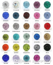 Wholesale Wholesale Pave Balls - Cheap! free shipping 200pcs lot pave beads 10mm Mixed Color disco ball beads crystal pave beads