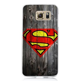 Wholesale Superman Hard Case - Deadpool Spiderman Avengers For Galaxy S6 S7 Edge Hard PC Case Hood For iphone5 5S 6S 7 6 Plus Batman Ironman Superman Accessories