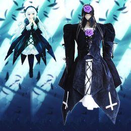 Wholesale Suigintou Cosplay Costume - Anime Peach-Pit Rozen Maiden Mercury Lamp Uniform Cosplay Costumes Suigintou Full Set Lolita Dress
