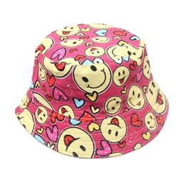 781803c511f Kids Cute Bucket Hat Floral Beach Sun Hat For Children Boys Baby Summer  Outdoor Sport Fishing Cotton Baseball Cap 10 Color Free Shipping