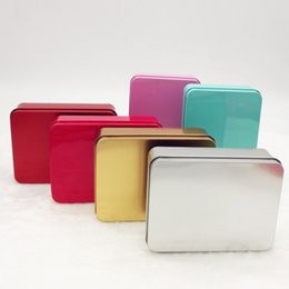 Wholesale Candy Metal Containers - Wedding Candy Boxes Rectangle Metal Storage Boxes Gadget Beads Container Dull Polish Case Banquet Supplies Home Furnishing 1 2wn D