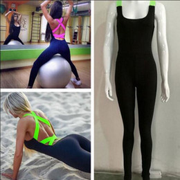 Wholesale Hot Workout Clothes - Wholesale- Clothes Legging New Pants 2016 Hot Fitness Jumpsuit Workout Women