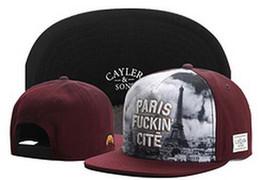 Wholesale Paris Snapback - Cayler & Sons paris fuckin city 2017 New Fashion Cayler Sons Men Snapback Hats Women Ball Caps Top Quality