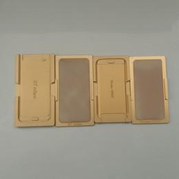 reparación de la pantalla del borde s6 Rebajas Para Samsung Galaxy S6 Edge S7 Edge Pantalla táctil LCD Reparación Alineación de posicionamiento de aluminio Molde de laminación Herramientas de restauración de moldes