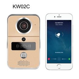 Wholesale Door Phone Doorbell Wireless - KW02C 720P H.264 Smart WiFi Video Door Phone intercom Doorbell Wireless Unlock IR CUT Night Vision Motion Decetion Alarm AT