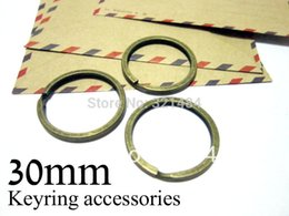 Wholesale Wholesale Bulk Jewelry Supplies - bulk 500piece Antique brass bronze split key rings 30mm for keychain jewelry making supplies