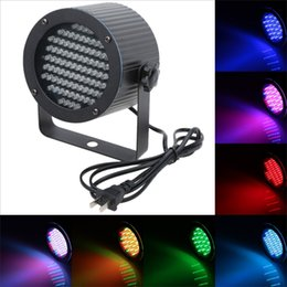 Wholesale Stage Light Wholesaler - Professional Stage Light 25W 86 RGB LED Light 4 Channel DMX512 Control Projector DJ Party Disco Stage light US plug H8813US