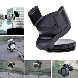 Wholesale Cell Accessories Cars - Universal Car Windshield Black Mount Holder Bracket For Cell Phones for Note 4 GPS Accessories 2993