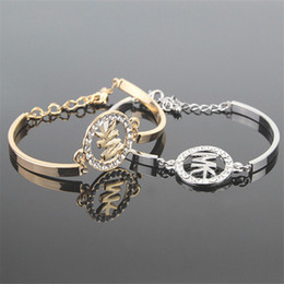 Wholesale Metal American - Popular letter bracelets for women cool bracelets metal pendants heart charm bracelets jewellry bangles gifts Pulsera Titanium steel bracele