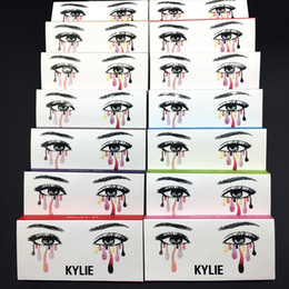Wholesale Wholesale Plastic Strips - kylie cosmetics High Quality False Eyelashes Handmade Natural Long Thick Mink Fur Eyelashes Soft Fake Eye Lash extensions Black Terrier
