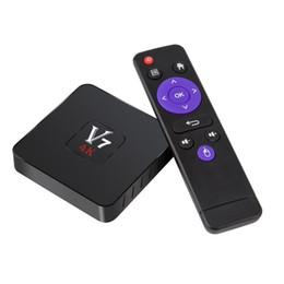 V7 tv online-V7 Android 7.1 Fernsehkasten Rockchip RK3328 Viererkabel-Kern 1G / 8G intelligenter Mini-PC 4K 3D strömender Media-Spieler 2.4GHz Wifi stellte Spitzenkasten-Großverkauf ein