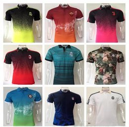 Wholesale Quick Drying Polo - 2017 2018 New Madrid Soccer Polos Top Quality Italy Juven Inter Rome AC Milan soccer Jersey polo shirt 17 18 Real Madrid jersey Shirts Polo