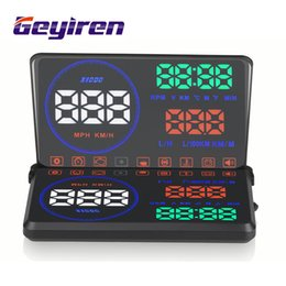 Wholesale fuel display - Head Up Display OBD2,5.5 inch M9 Car HUD Heads Up Display with Reflective Board, Display KM h MPH,Speeding Warning,Fuel Consumption