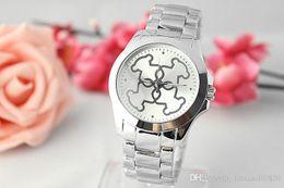 Wholesale Geneva Style Watch - 2017 Hot Selling Fashion Clock dial Quartz Full Steel woman Watches Man Woman Quartz Watches speed sell hot style alloy Geneva ladies