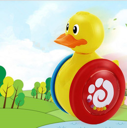 Wholesale Educational Walker - Duck Tumbler Rattle Bell Tumbler Toy Baby for Toddler Learning Walker Early Educational With 360 degree rotating wheel design