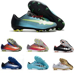 Wholesale Update Gold - 2017 New Update Low Football Boots Mercurial Superfly V CR7 FGSoccer Shoes Youth Men Soccer Cleats Top Quality Football Shoes Size 39-45
