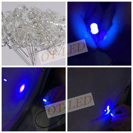 Wholesale Uv Spotlight - Wholesale- 100pcs 5mm Ultraviolet 395nm 400nm UV LED Diode Light Emitting Lamp 5 mm UVLED (Ultra Violet Purple 5 mm Round Water Clear Lens)
