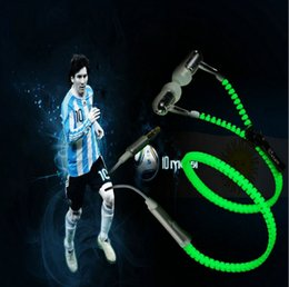 Auriculares brillantes online-Glow Headphones Luminous Light Headset Stereo Sport Auriculares con cremallera Auriculares Glow In The Dark para el iphone 6 7 samsung s7 s8