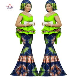 Wholesale Plus Size Work Clothes - 2017 Spring skirt set african designed clothing traditional bazin print Bazin Riche plus size skirt set evening dress WY1312