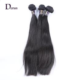 Wholesale Derun Virgin Hair - Derun Hair on Sale!!!Mix 3 Bundles 100% Unprocessed Malaysian Virgin Human Hair Weft Silky Straight Natural Color Fast Free Shipping